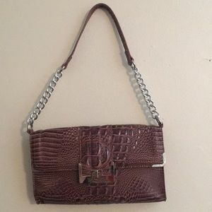 Faux snake skin hand bag. NEW